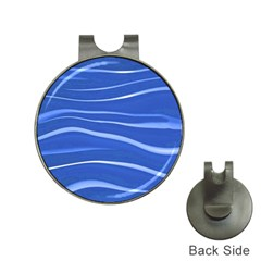 Lines Swinging Texture  Blue Background Hat Clips with Golf Markers
