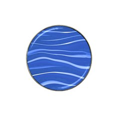 Lines Swinging Texture  Blue Background Hat Clip Ball Marker (4 Pack)