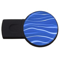 Lines Swinging Texture  Blue Background Usb Flash Drive Round (4 Gb)