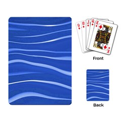 Lines Swinging Texture  Blue Background Playing Card
