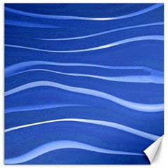 Lines Swinging Texture  Blue Background Canvas 16  X 16