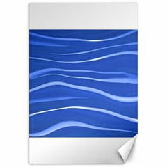 Lines Swinging Texture  Blue Background Canvas 20  X 30