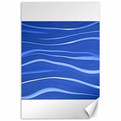 Lines Swinging Texture  Blue Background Canvas 24  X 36