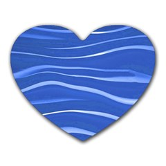 Lines Swinging Texture  Blue Background Heart Mousepads
