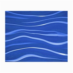 Lines Swinging Texture  Blue Background Small Glasses Cloth (2-Side)