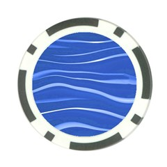 Lines Swinging Texture  Blue Background Poker Chip Card Guard