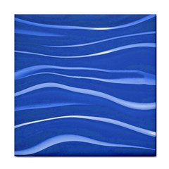 Lines Swinging Texture  Blue Background Face Towel