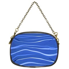 Lines Swinging Texture  Blue Background Chain Purses (one Side)