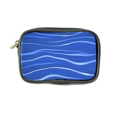 Lines Swinging Texture  Blue Background Coin Purse