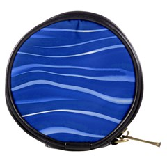 Lines Swinging Texture  Blue Background Mini Makeup Bags