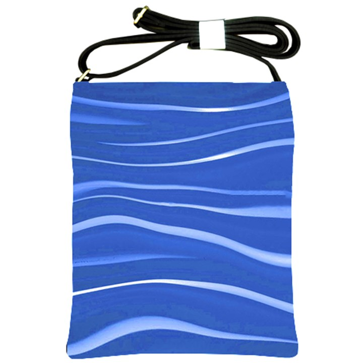 Lines Swinging Texture  Blue Background Shoulder Sling Bags