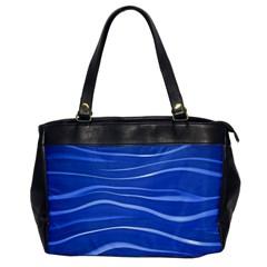 Lines Swinging Texture  Blue Background Office Handbags