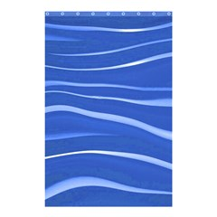 Lines Swinging Texture  Blue Background Shower Curtain 48  x 72  (Small)