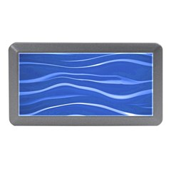 Lines Swinging Texture  Blue Background Memory Card Reader (mini)