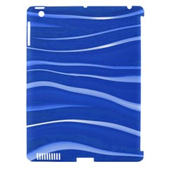 Lines Swinging Texture  Blue Background Apple Ipad 3/4 Hardshell Case (compatible With Smart Cover)
