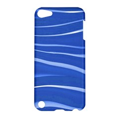 Lines Swinging Texture  Blue Background Apple Ipod Touch 5 Hardshell Case