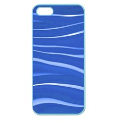 Lines Swinging Texture  Blue Background Apple Seamless Iphone 5 Case (color)