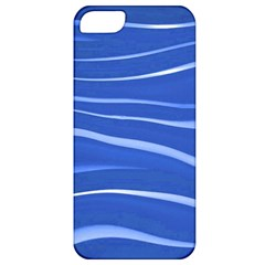 Lines Swinging Texture  Blue Background Apple Iphone 5 Classic Hardshell Case