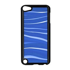 Lines Swinging Texture  Blue Background Apple Ipod Touch 5 Case (black)