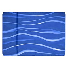 Lines Swinging Texture  Blue Background Samsung Galaxy Tab 8 9  P7300 Flip Case