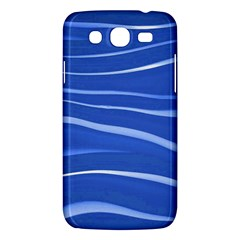 Lines Swinging Texture  Blue Background Samsung Galaxy Mega 5.8 I9152 Hardshell Case