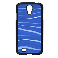 Lines Swinging Texture  Blue Background Samsung Galaxy S4 I9500/ I9505 Case (black)