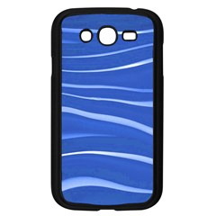 Lines Swinging Texture  Blue Background Samsung Galaxy Grand Duos I9082 Case (black)