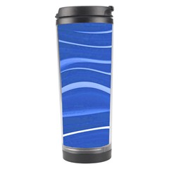 Lines Swinging Texture  Blue Background Travel Tumbler