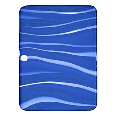 Lines Swinging Texture  Blue Background Samsung Galaxy Tab 3 (10.1 ) P5200 Hardshell Case