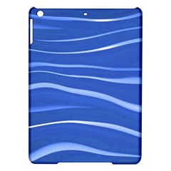 Lines Swinging Texture  Blue Background Ipad Air Hardshell Cases