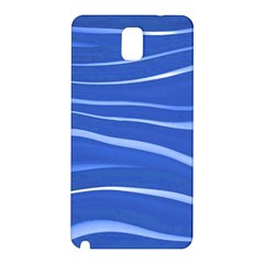 Lines Swinging Texture  Blue Background Samsung Galaxy Note 3 N9005 Hardshell Back Case