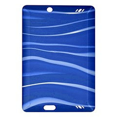 Lines Swinging Texture  Blue Background Amazon Kindle Fire Hd (2013) Hardshell Case