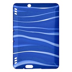 Lines Swinging Texture  Blue Background Kindle Fire Hdx Hardshell Case