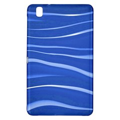 Lines Swinging Texture  Blue Background Samsung Galaxy Tab Pro 8.4 Hardshell Case