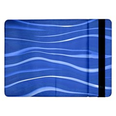 Lines Swinging Texture  Blue Background Samsung Galaxy Tab Pro 12.2  Flip Case