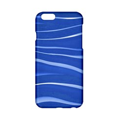 Lines Swinging Texture  Blue Background Apple Iphone 6/6s Hardshell Case