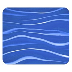 Lines Swinging Texture  Blue Background Double Sided Flano Blanket (small)