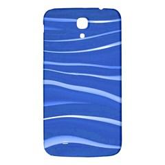 Lines Swinging Texture  Blue Background Samsung Galaxy Mega I9200 Hardshell Back Case