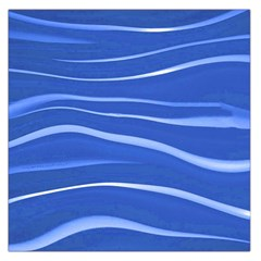 Lines Swinging Texture  Blue Background Large Satin Scarf (square)