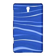 Lines Swinging Texture  Blue Background Samsung Galaxy Tab S (8.4 ) Hardshell Case