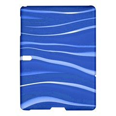 Lines Swinging Texture  Blue Background Samsung Galaxy Tab S (10 5 ) Hardshell Case