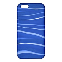 Lines Swinging Texture  Blue Background iPhone 6/6S TPU Case
