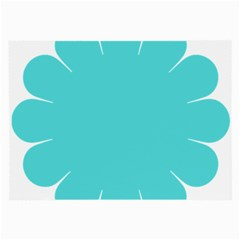 Turquoise Flower Blue Large Glasses Cloth