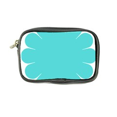 Turquoise Flower Blue Coin Purse