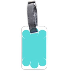 Turquoise Flower Blue Luggage Tags (One Side)