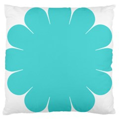 Turquoise Flower Blue Large Cushion Case (Two Sides)