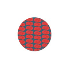 Rose Repeat Red Blue Beauty Sweet Golf Ball Marker