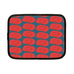 Rose Repeat Red Blue Beauty Sweet Netbook Case (Small)