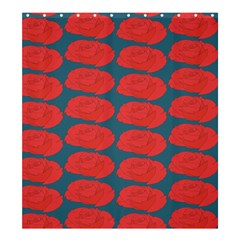 Rose Repeat Red Blue Beauty Sweet Shower Curtain 66  x 72  (Large)