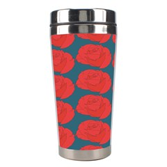 Rose Repeat Red Blue Beauty Sweet Stainless Steel Travel Tumblers